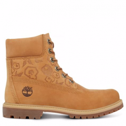 Timberland chaussures pour femme the original 6-inch boot_wheat waterbuck embossed